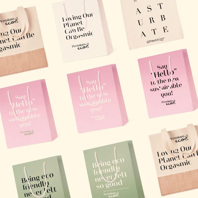 Bag mock-ups & print design WOW-Tech group DE